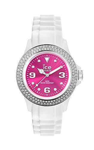 Ice-Watch - ICE star White Pink - Women's wristwatch with silicon strap - 013748 (Medium)
