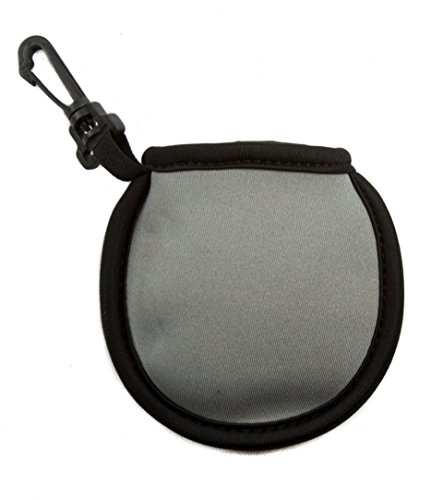 Stripe Golf Ball Washer Pouch, Pocket Ball Cleaner with Clip (Black)