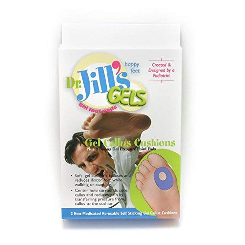 Dr. Jills Gel Callus Cushions (Self-Sticking and Re-Usable)