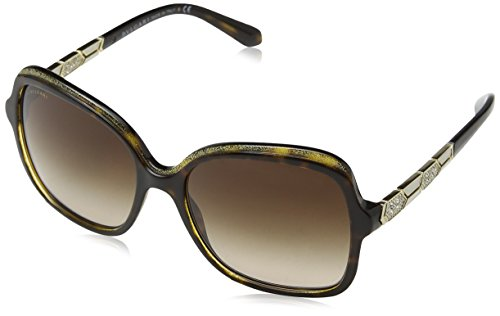 Bulgari Damen 0Bv8181B 535313 56 Sonnenbrille, Gold (Havana/Brown)