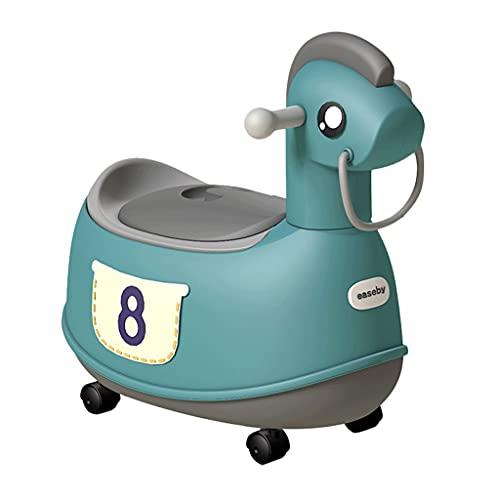 1 포티 트레이닝 시트 2개 소년 소녀 귀여운 포니 장난감 자동차를 위한 어린이 토들러를 위한 토들러 화장실 휴대용 포티 (색 : 파란색)