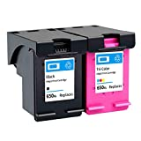 Cartucho de tinta 650XL, repuesto para impresora HP Deskjet Ink Advantage 1015 1515 2515 2545 2645 3515 4645 compatible con negro y tricolor negro y color