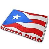 Love girl Bandera de Puerto Rico Entrada puertorriqueña Felpudo Baño Piso Hogar Alfombra Antideslizante Oficinas Alfombra Cocina Baño Alfombra Decoración 80x50 cm