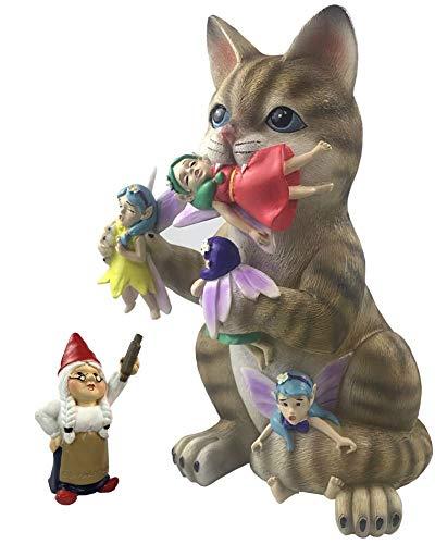 by Mark & Margot - Fairy Cat Gnome Massacre - Mischievous Cats Garden Statue Unique Home Decor