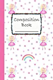 Composition Book: Magical Angel Doll Composition Book to write in  - Wide Ruled Book - colorful rainbow, magical things