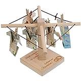 Geld-Wäschespinne (Hochzeit - Ringemotiv): Ein kreatives Geldgeschenk für Dein Patenkind -...