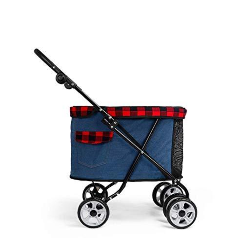 LCSD Cama para perro nuevo cochecito de mascota peluche cachorro perro carrito pequeño gato plegable bebé cochecito ligero perro suministros carga 13kg