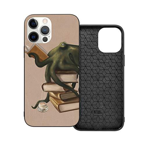 Compatibile per iPhone 12 Pro Max Caso, Well Read Octopus Hybrid PC+TPU Soft Touch Antiurto Custodia Protettiva Sottile Cover 5G (17,7 cm)
