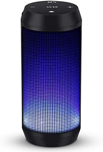 Caja de música con Altavoz Bluetooth Caja portátil de Bluetooth LED con función Manos Libres para teléfono móvil y PC Radio FM y USB inalámbrico de