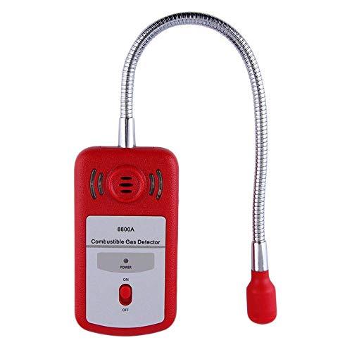 WCY Tragbarer Detektor for brennbares Gas, Propan Methan und Erdgas-Leck-Detektor, Gas-Tester Messgerät Sensor mit Ton Licht Alarm Einstellbar yqaae