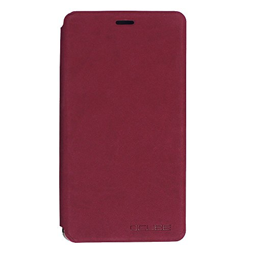 New Arrival PU Leather Phone Case Back Cover for Leagoo Shark 1 6.0 inch Phone - Red