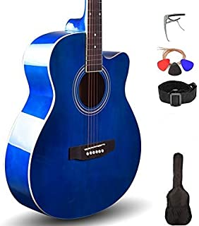Best Kadence Frontier Series Acoustic Guitar 40inch with/without EQ and Bag (Super Combo, Blue) Review