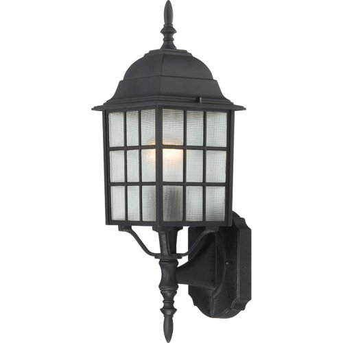 Nuvo Lighting 60/4903 Adams Single-Light Wall Lantern with Frosted Glass Panels