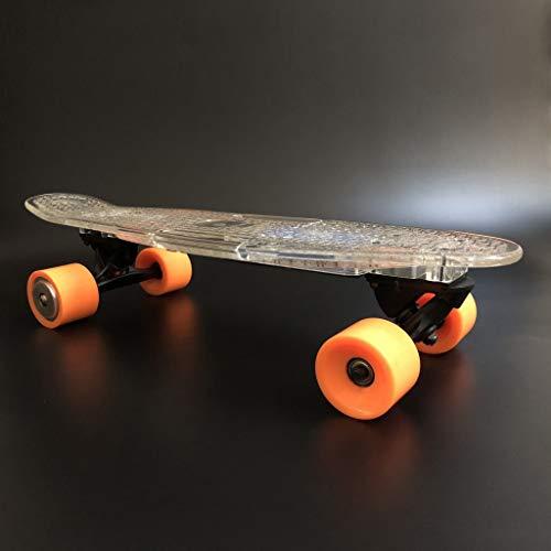 YUN GAME@ Elektro-Skateboard Bluetooth Controller Longboard-leistungsstarke Dual-Hub-Motoren Top-Speed 11 Mile-Bereich mit LED-Nachtlicht Fernbedienung Pendelfahrt durch Buffalo*