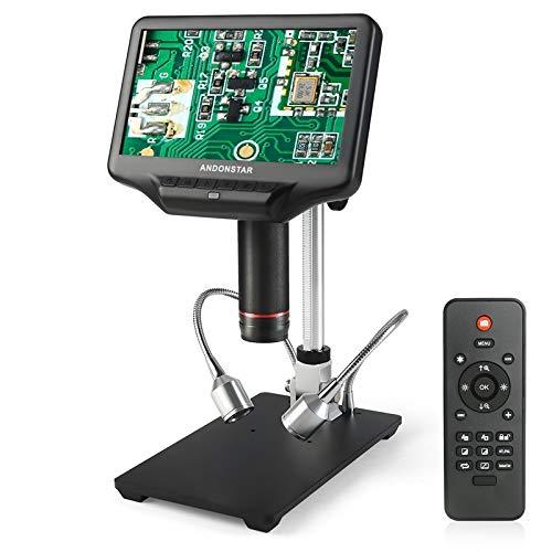YASEking 3D Efecto Visual Digital HDMI Microscopio LCD de 7' 4 MP Ajuste Grande reparación de telefonía móvil Campo SMT Soldadura Herramienta UV Lente de la Lupa
