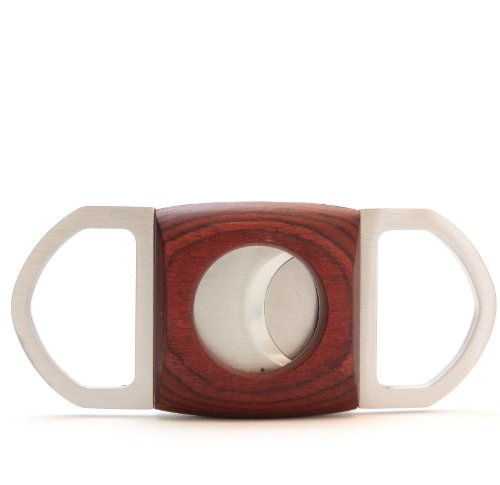 Mrs. Brog Guillotine Cigar Cutter - Mahogany Wood & Stainless Steel - Squere Ends