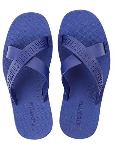Bikkembergs Ciabatte Incrociate Uomo Mare o Piscina Ciabatta Beachwear Articolo B6A8027, 2020 Bluett, Taglia 44 - Size 44