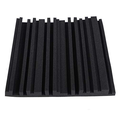 Stoßdämpfende schaumdämpfende Schaumplatten, Schalldämmschaum Professionelle Schallschutzplatten Schalldichtes Material, Wand Schallabsorbierende Baumwolle(High Density Flame Retardant Black)