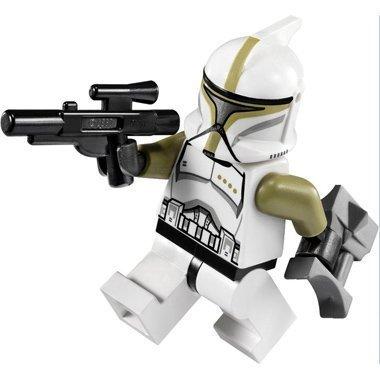 Lego Star Wars Minifigure: Clone Trooper Sergeant with Blaster & Binoculars
