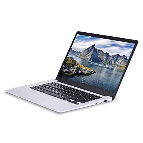 Portátil de 13,3 Pulgadas (procesador Intel celeron_j3455 de Cuatro núcleos y 64 bits, 6 GB de RAM, SSD de 128 GB), Uso Duradero de una batería de Gran Capacidad de 10000 mAh, Windows 10 Pro