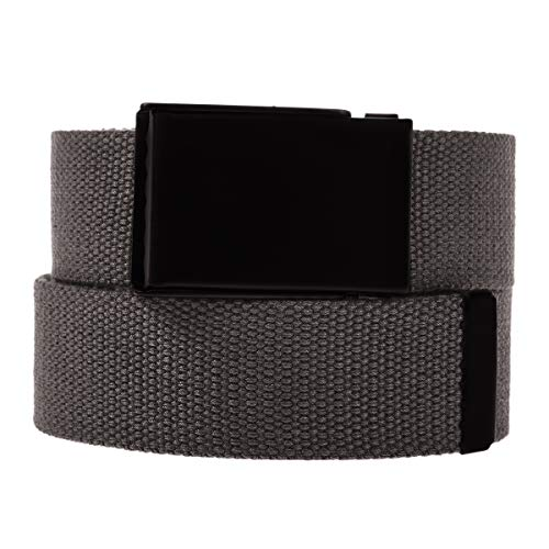 DG HillCasual Canvas Web Belt For Men Military Style Tactical Flip Top Buckle