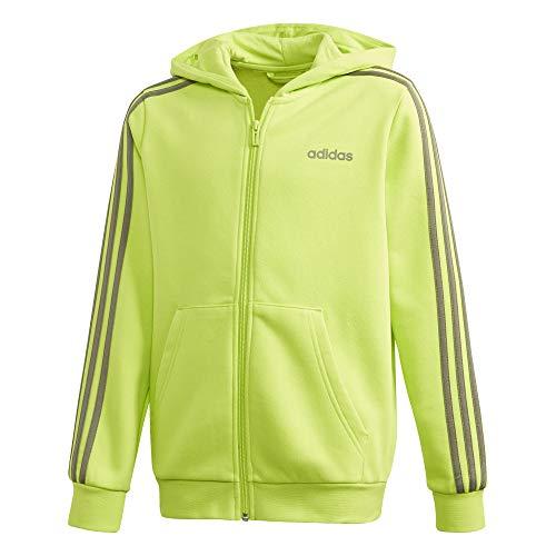 adidas Jungen YB E 3S FZ HD Sweatshirt, Seliso/Verleg, 128 (7/8 años)