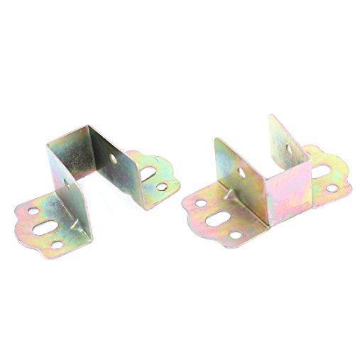 X-Dr Bett Metall U Winkelhalterung Bronze Ton 80 x 40 x 30mm 2Stk (ad534a0901f69287ad162cda72b1b899)
