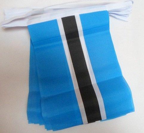 9 m lang/30 Wimpel Flagge Botswana Botswanan Material