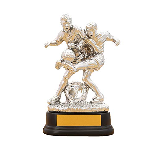 DYYPPWW Copa Campeonato, FúTbol Copa Trofeo De CompeticióN, para Torneos Deportivos, Fiestas Aficionados Al FúTbol DecoracióN,Plata