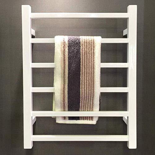 SBDLXY Calentador de Toallas, radiador con calefacción, toallero eléctrico Cuadrado montado en la Pared para el baño del hogar, Lujoso Hotel, 31.4'y Tiempos; 19.6', Color Blanco