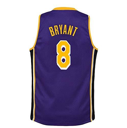 Kobe Bryant # 8 Camiseta De Baloncesto De Los Hombres De Los Ángeles Lakers Malla Alero Jerseys Chaleco Sin Mangas Top Sport Purple-XL: Amazon.es: Hogar