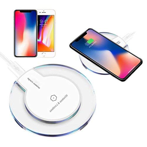 TheMax® Wireless Charger Fast Charger QI Wireless Charging Pad for iPhone 8/8 Plus, iPhone X Samsung Note 8 S8/S8 Plus/S7/S7 Edge/S6 Nexus 7/6/5/4(2013) Nokia Lumia 920 (White QW-003)
