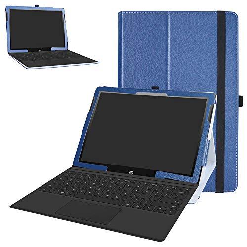 HP Chromebook x2 Tablet Case,Bige PU Leather Folio 2-Folding Stand...