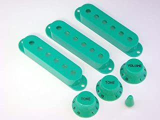 MIJ Knobs and Pickup Covers Set for Stratocaster Green fa-st7mm-grn