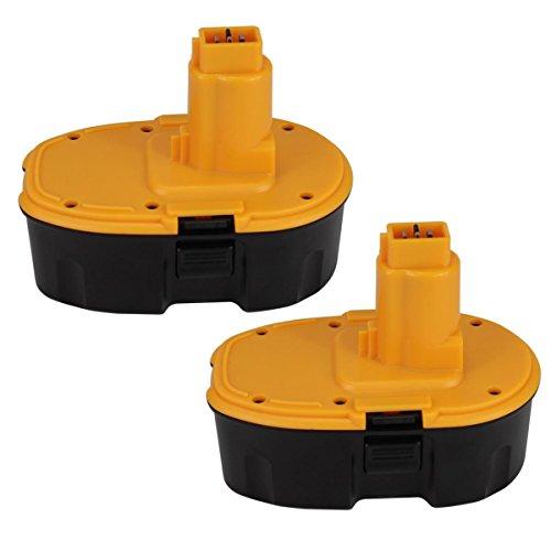 2 Pack Moticett DC9096 3,0Ah Repuesto Ni-Mh para Dewalt 18V Batería DE9039 DE9095 DE9096 DE9098 DW9096 DW9095 DW9098 Herramienta Eléctrica sin cable