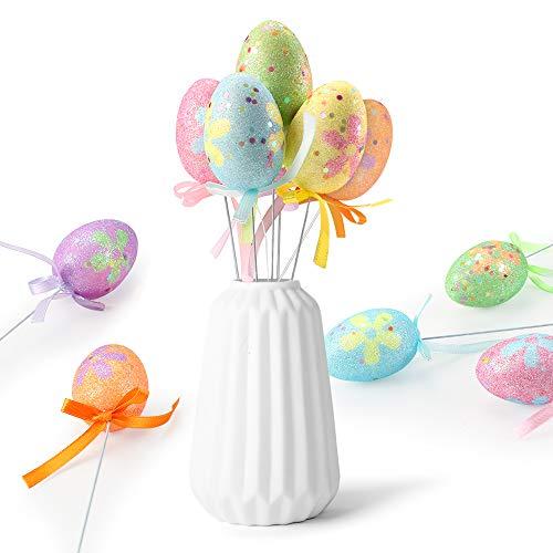 Wishstar Uovo di Pasqua, 12 Pezzi Uova di Pasqua, Artigianato per Decorazione delle Uovo Pasqua, Uova Pasqua per Decorazioni e Regali, Ottima Decorazione per la Pasqua - B