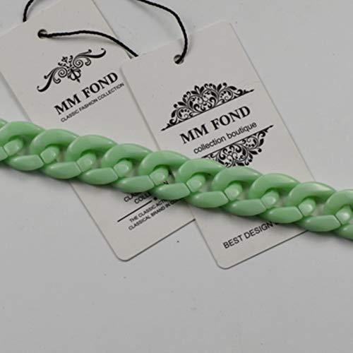 Right Cadena de plástico para Mujer Bolsa de Bolsas o Cuello de Cuello de Color Chic Color sólido para Mini Bolsas