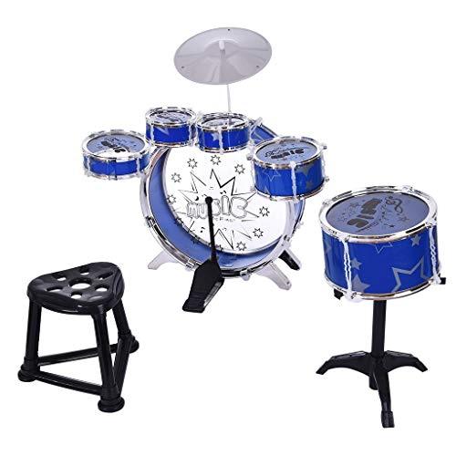 MROSW 12Piece Kinder Jazz Drums Jungen Frühe Bildung Weiterbildung Spielzeug Bewegung Koordination Praktische Fähigkeit Geschenke Musikinstrument Für Kinder