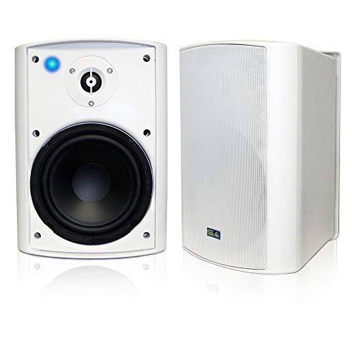"Wireless Streaming 6.50"" Indoor/Outdoor Weatherproof Patio Speakers, Bluetooth Speaker (White - Pair) by Sound Appeal"
