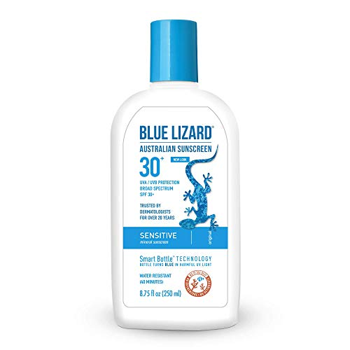 Blue Lizard Sensitive Mineral Sunscreen - No Chemical Actives - SPF 30+ UVA/UVB Protection, 8.75 Fl...