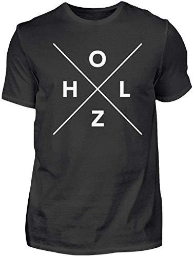 HOLZBRÜDER® drewniany Cross T-Shirt idealny do pracy z piłą łańcuchową w lesie