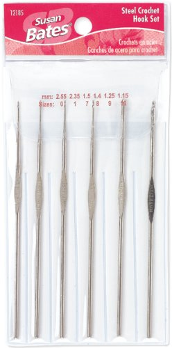 Susan Bates Steel Crochet Hook Set