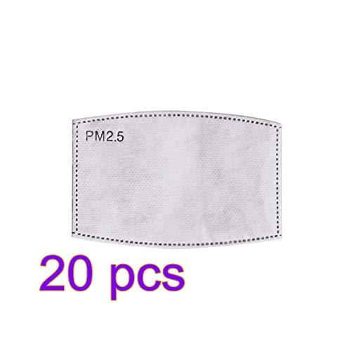 ANYIKE Pm2.5 geactiveerde filter gezichtsmasker filters, beste partner voor beschermend masker, deeltjesmasker filter 20 stuks.