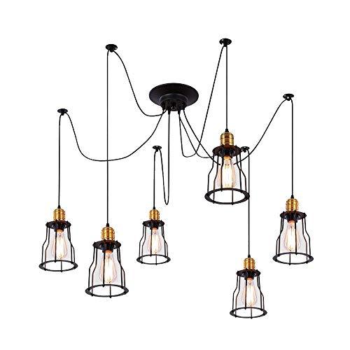 Creatividad para el Hogar Lámpara de 6 Luces Lámpara de Techo Moderna Medieval Lámpara de Araña Industrial Cocina Comedor Sala de Estar, HJY