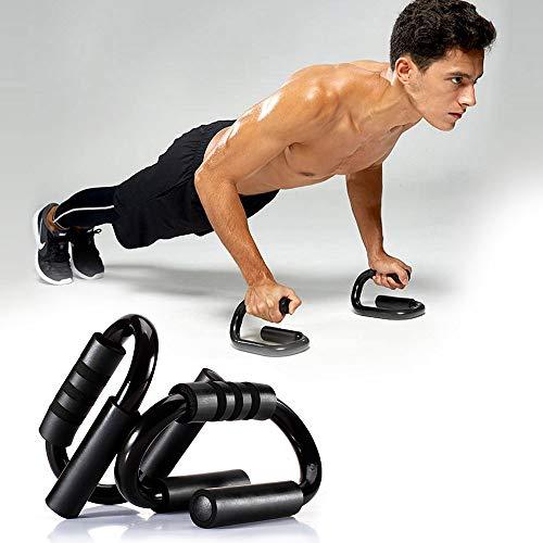 DeeCozy 2 Stück Rutschfester Push-up-Ständer, tragend 220 kg, Push-up-Stangen Sport Fitness-Unterstützung S-Form Push-up-Regal Fitnessgeräte Training Brustmuskel für Heimgymnastik