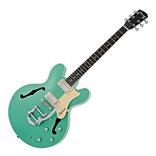 Hartwood Revival Vibrato Semi Acoustic Guitar, Jade Green