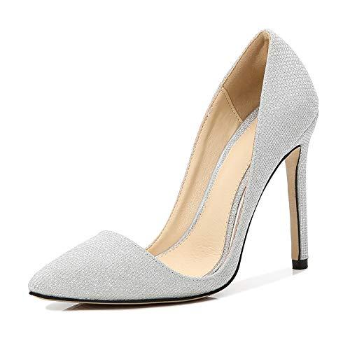 Gladwill Zapatos de tacón alto para mujer con punta puntiaguda, sexy, 12 cm