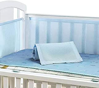 Breathable Crib Liner (Blue)