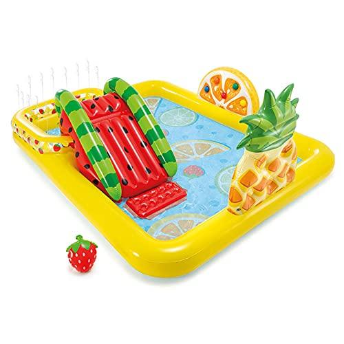 LGLE Centro de juego acuático hinchable, para niños de chorro de agua, piscina, piscina de juegos de agua de pulverización, para el verano, jardín, exterior, fiesta de familia, 244x191 x 91 cm.
