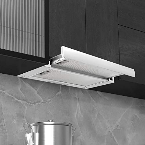 vidaXL Hotte encastrable 480 m3/h en aluminium et acier inoxydable